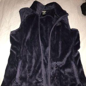 Women's Lg Northface fuzzy vest